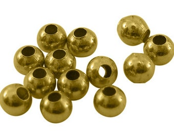 s00777 -  500 Brass Beads, Seamless Round Beads, gold color, about 3mm in diameter, hole: 1.2mm
