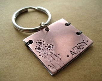 Handmade Copper Pet Id Tag, Handstamped, Copper, Aluminum, Aluminum Backer, Unique Pet Id