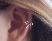 Ear Cuff ROSE GOLD Filled Dainty Bow