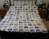 Custom Granny square crochet blanket