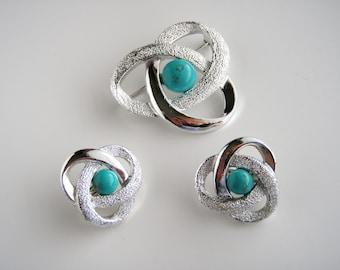 Sarah Coventry Orbit  Brooch Pin/ Earrings  clip on
