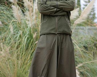 Men Drop Crotch pants. Green Khaki Aladdin pants, Plus size harem pants, Gypsy pants, Hippie pants, Ninja Trouser, Long harem pants for men