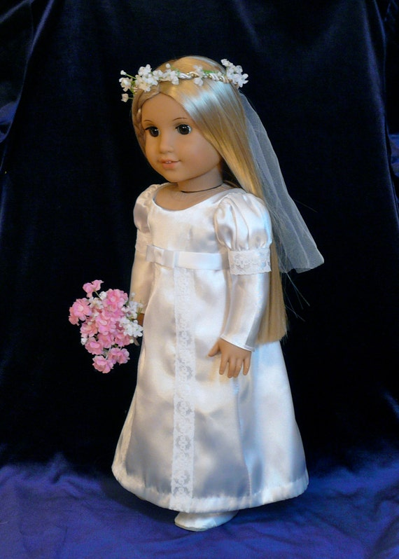 Items similar to american girl 18 inch doll clothes for American girl wedding dress