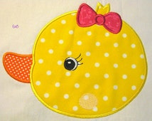 Farm Friends For Girls - Duck Face 01 Machine Applique Embroidery Design - 4x4, 5x7 & 6x8