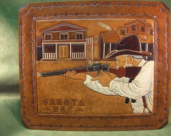 Hand Tooled Leather Art Work From Photo