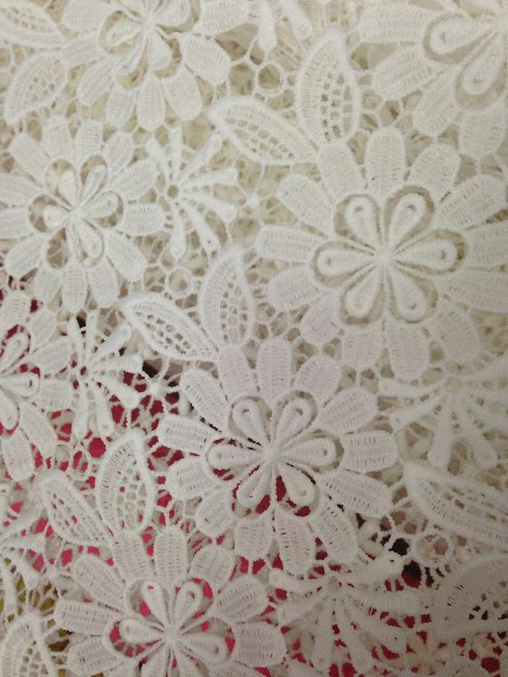 Items similar to white cotton lace fabric eyelet