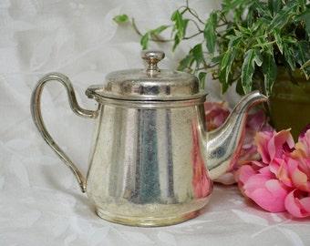 Vintage Mini Silver Teapot ....1 Cup Tea Pot....Tea Party....Wedding Vases /  3 Available