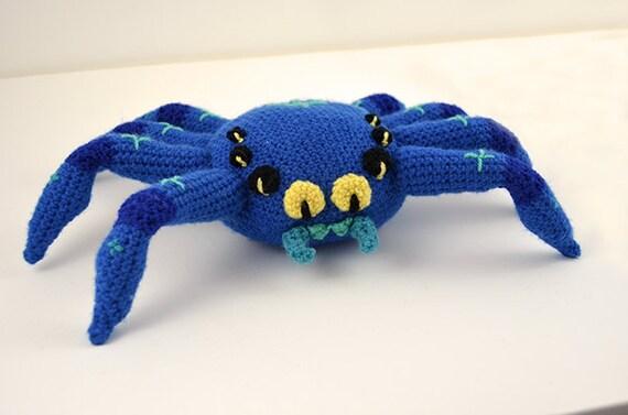 Amigurumi Spider Pattern : Big Fat Spider Crochet Pattern, Large Spider Crochet ...