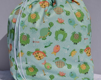 Frogs, Fishys & Turtles - PUL Wet Bag (Ready to Ship)