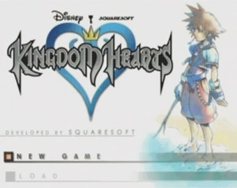 Kingdom Hearts Title Screen cross stitch pattern