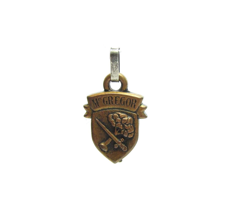 Mcgregor Pendant Coat Of Arms Family Shield Crest Crossed