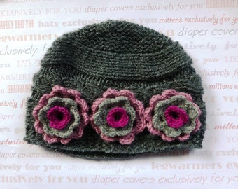 Baby Clothing, Knit Baby Hat, Baby Hats, Baby Girl Newborn Clothing, Baby Girl Clothing, Baby Girl Knit Hats