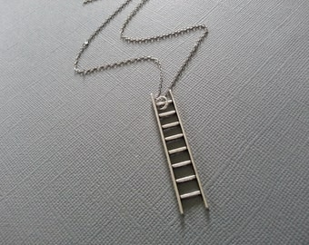 Antique Silver Ladder Necklace