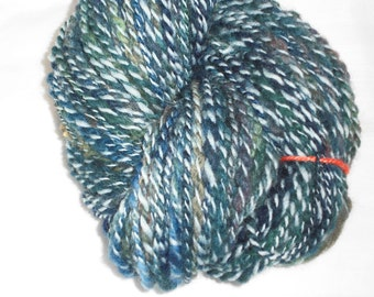 Handspun, Hand Dyed, DK Weight  2-ply Spiral Yarn, Novelty Yarn. Made In Denmark