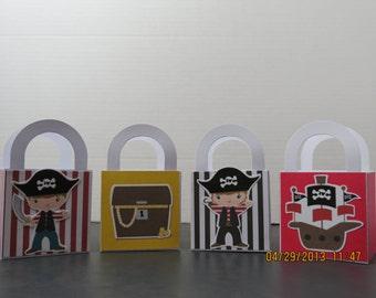 Boy Pirate Favor/Treat Bags (Set of 8)