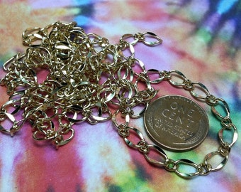 Free US Shipping bright goldplate finish chain 3ft soldered 5x7mm