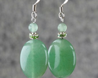 Jade drop earrings Bridesmaids gifts Free US Shipping handmade Anni Designs