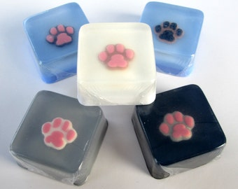 Paw Print Soap Favors for dog, cat, pet party