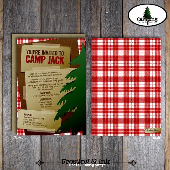 Camp Invitation Camping Invitation Camp Out Invitation