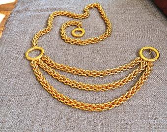 vintage 80s Paloma Picasso 12K gold plated chunky belt