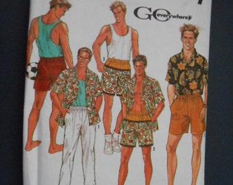 Simplicity  7265, Mens shorts, pants and 2 shirts,  size: XS-XL