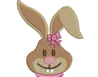 Easter bunny embroidery design download