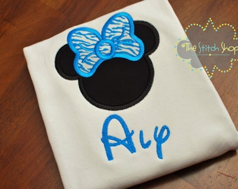 Minnie Appliqued and Monogrammed Disney Shirt