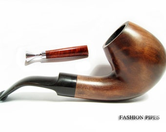 "Handcrafted Tobacco Pipe/Pipes Designed for Smokers, Wooden Pipe - Wood Pipe - Smoking Pipe ""Sherlock Holmes & Pipe Tamper"" Best Gift Set"