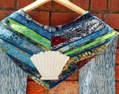 Clergy Stole - Shell of Baptism, water, river, life, worship, pastor, priest, handmade