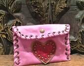 Heart Purse Italian leather