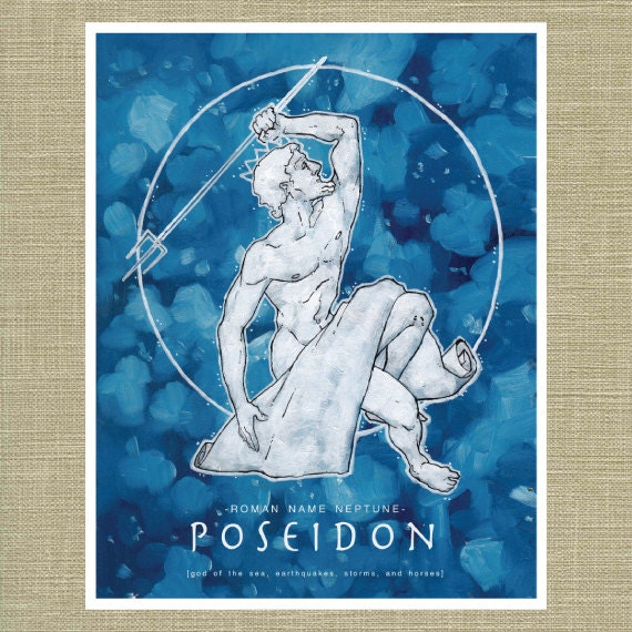 Greek And Roman Gods Poseidon And Neptune God Of The Sea