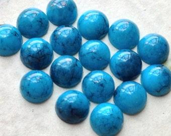 4 mm Turquoise Color Flat Back Acrylic Cabochons (.mtg)