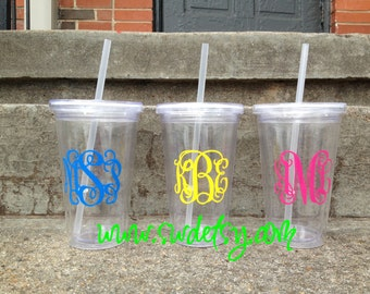 Personalized Acrylic Tumbler, personalized gift, Bridesmaid gift