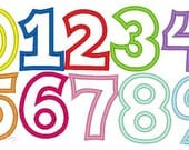 Sassy Applique Number design Set 0-9