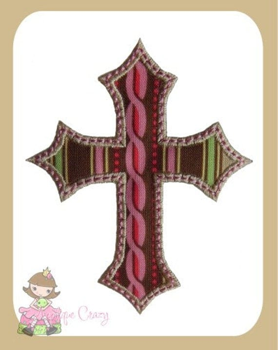 Cross (satin) Applique design
