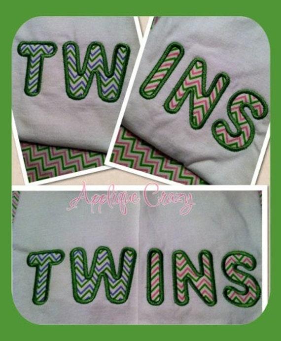Twins Applique design