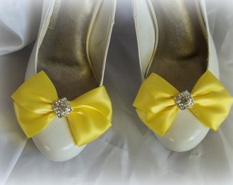 Wedding Shoe Clips, Satin Bridal Shoe Clips, MANY COLORS to choose from, Bridal Shoe Clips, Satin Shoe Clips, Wedding Colors, Shoe Clips