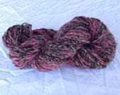 Pink and Black Tweed Yarn
