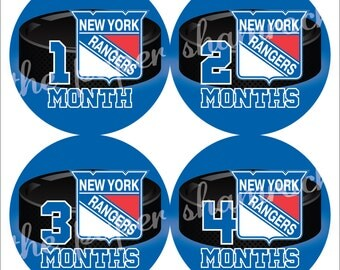 Pick your team - Hockey Monthly Onesies Stickers, NHL Baby Stickers for Onesies, Month Stickers