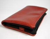 """Tobacco pouch, Wallet, Mobile Phone pouch """"redbrown leather"""""""