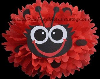 Ladybug Party Pom