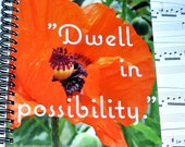Inspirational Quote Photo Notebook, Poppy, Vancouver Island: Support Lyme Disease Foundation
