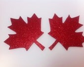 Rave wear canada Maple leaf pasties canadian pride nipple covers stick on burning man costume festival