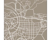 Taipei City Line Art Print / Taiwan Map Art Poster / 8x10 Giclee Print / Choose your color - jennasuemaps