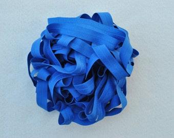 "5/8"" Fold Over Elastic, 10 yards, Deep Sea Blue"