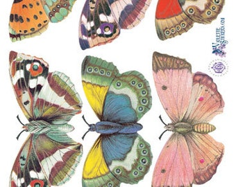 Beautiful Vintage Style Large Butterfly Stickers for Crafting-2 sheets