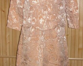 1960s two piece semi formal dress