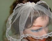 Tulle Birdcage Veil, Head Piece, Fascinator, Wedding Accessories, Bridal Clip, Bridal Headpiece, Bridal Veils, Hair Clips.