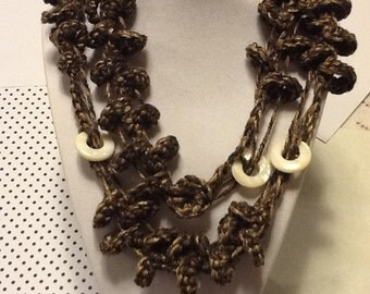 Beaded Loop Handmade Crochet Necklace