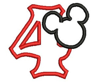 Winnie The Pooh Mickey Head Embroidery Design